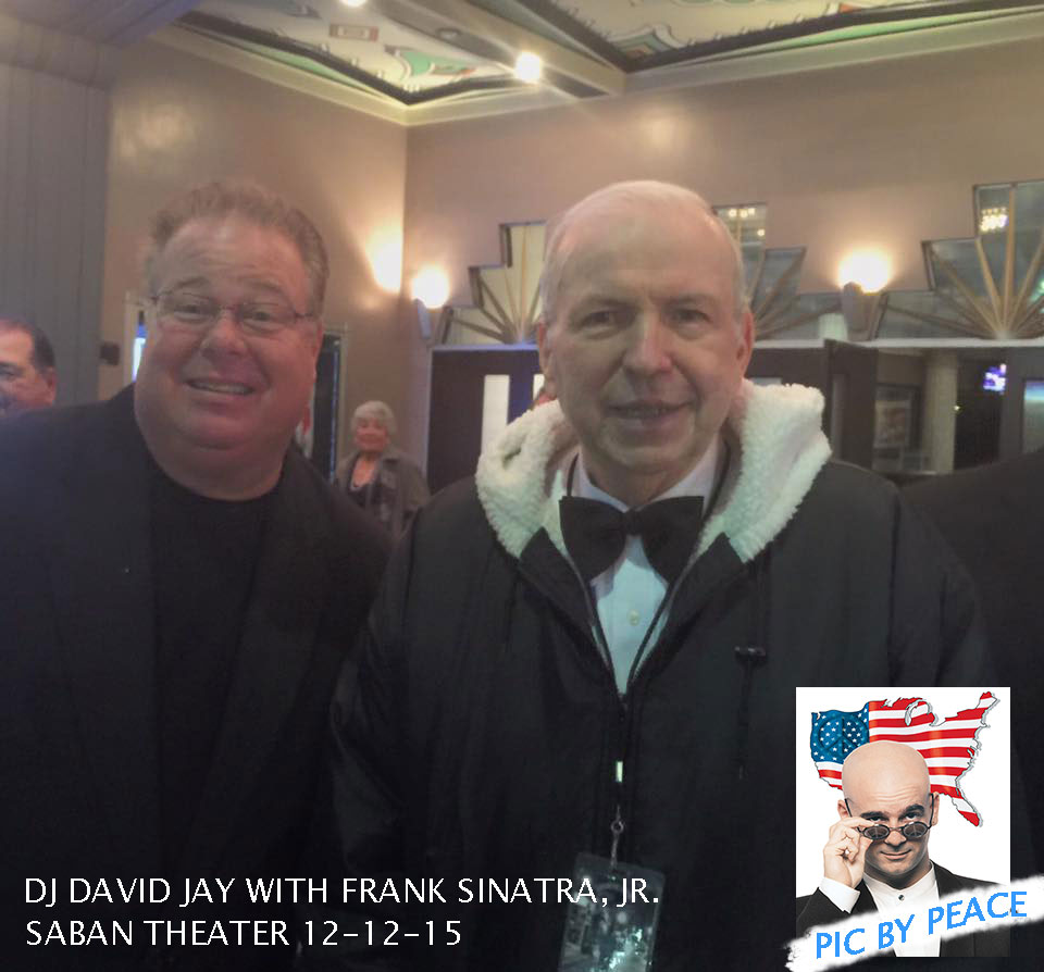 Frank Sinatra, Jr says hello to DJ David and DJ Peace