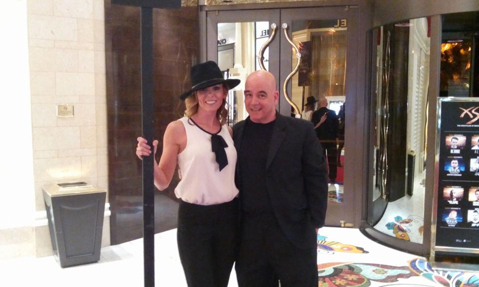 DJ Peace and Tara at Sinatra 100 Grammy Tribute Wynn Encore Theater